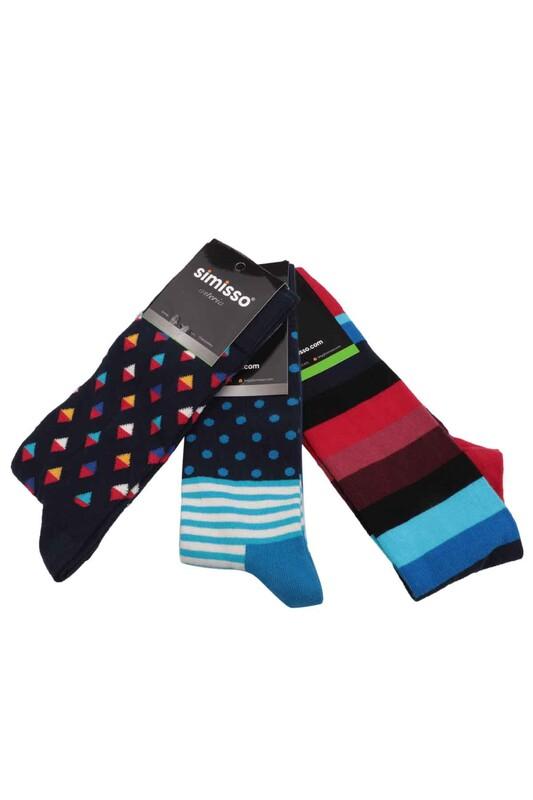 SİMİSSO - Simisso Renkli Çorap Seti 3'lü | Set 68