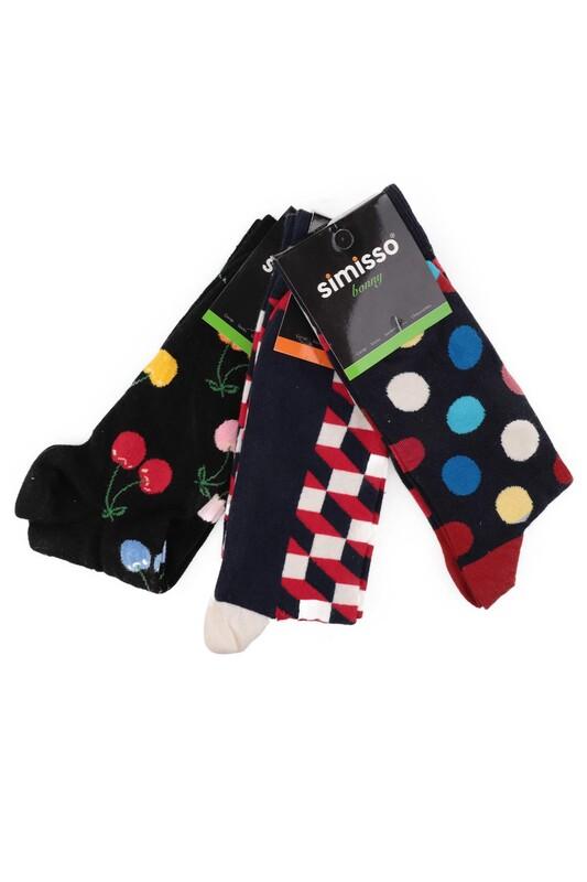 SİMİSSO - Simisso Renkli Çorap Seti 3'lü   Set 87