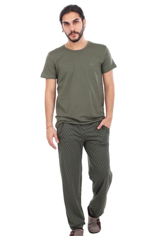 AYDOĞAN - Aydoğan Kısa Kol Modal Erkek Pijama Takımı 7812 | Yeşil