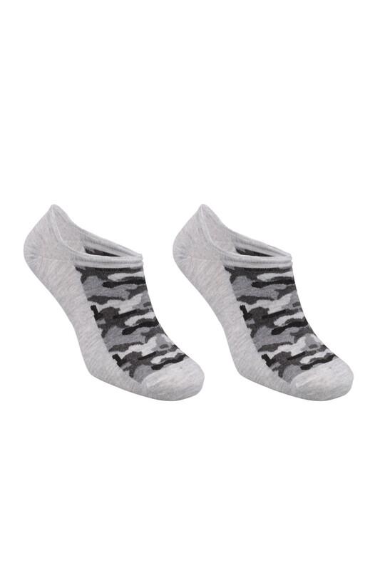 SİMİSSO - Bambu Kamuflaj Desen Erkek Sneakers Çorap | Gri