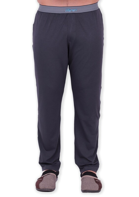 JİBER - Jiber Modal Tek Alt Erkek Pijama 4633 | Füme