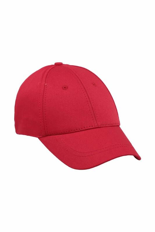 SİMİSSO - Erkek Evalı Delikli Şapka Kırmızı