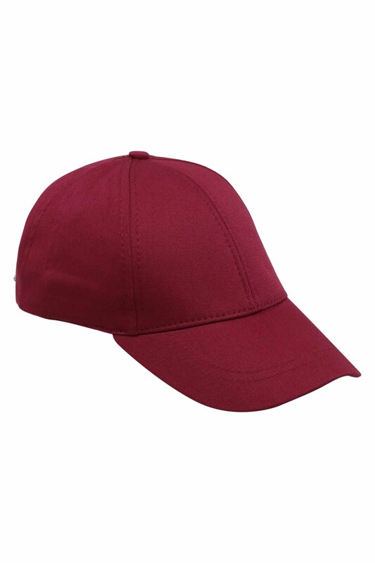SİMİSSO - Erkek Evalı Şapka Bordo