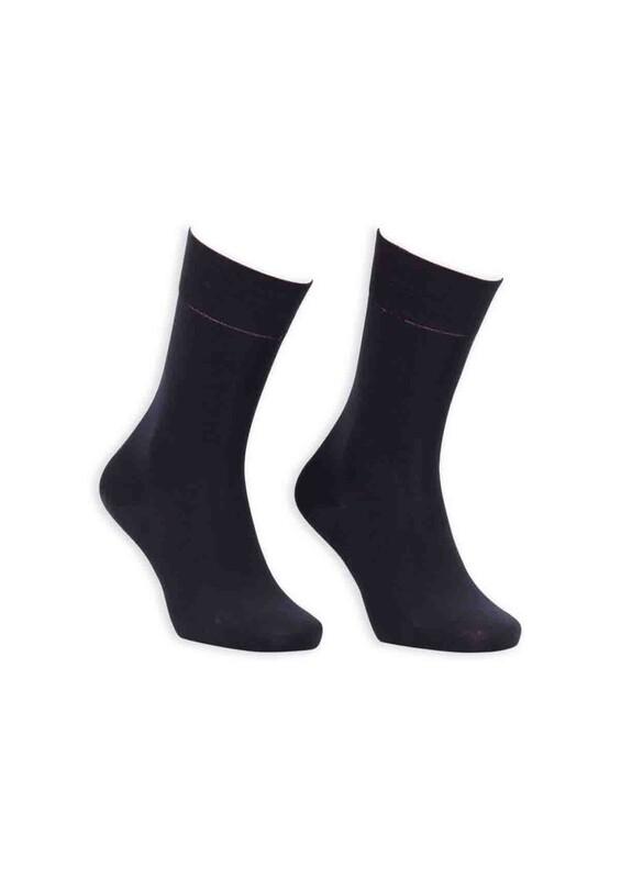 Bordo - Bordo Bambu Dikişsiz Erkek Çorap GBK1002 | Siyah