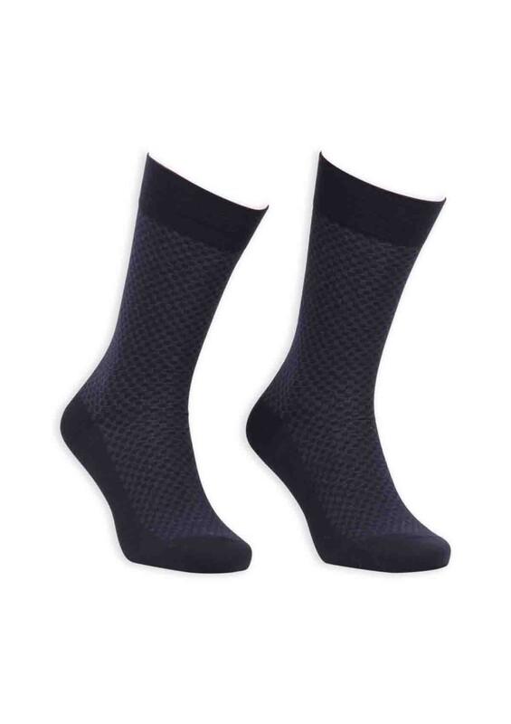 Bordo - Bordo Bambu Dikişsiz Erkek Çorap EBK1002 | Lacivert