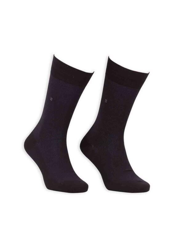 Bordo - Bordo Bambu Dikişsiz Erkek Çorap EBK1001 | Siyah