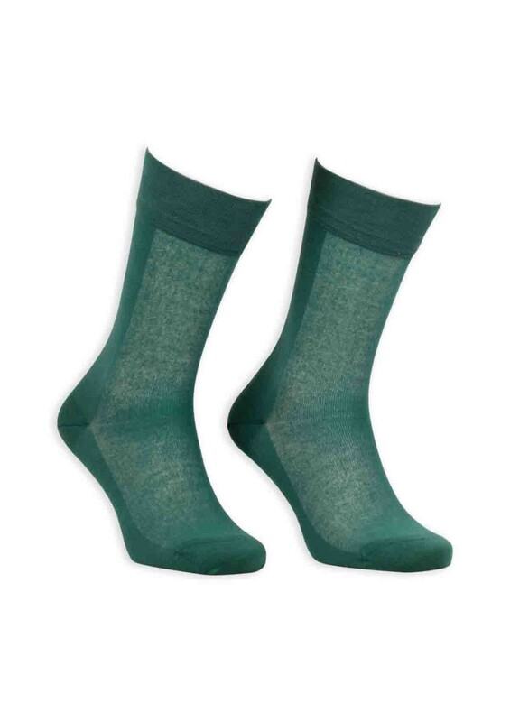 Bordo - Bordo Cotton Dikişsiz Erkek Çorap SM31007-24 | Yeşil