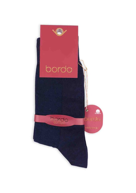 Bordo - Bordo Cotton Dikişsiz Erkek Çorap SM31007-05 | Lacivert