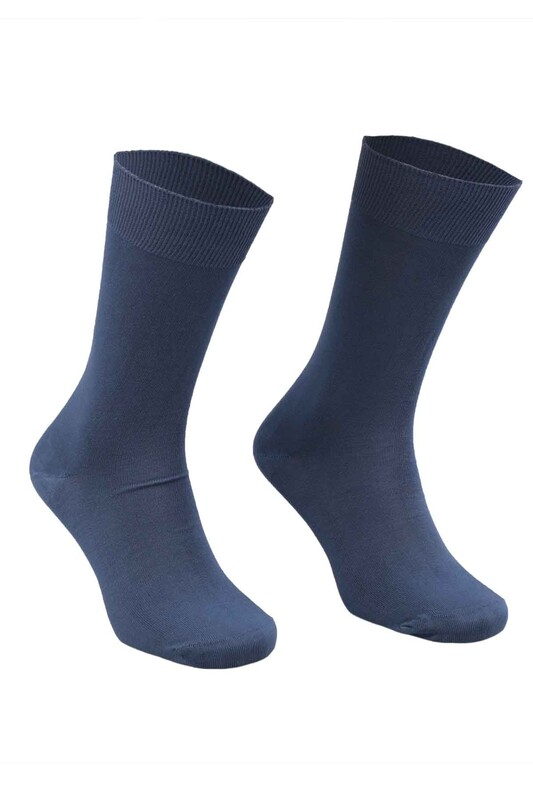 SAHAB - Sahab Bambu Erkek Çorap 7001 | İndigo