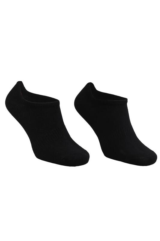 SAHAB - Dikişsiz Erkek Snikers Çorap 8010   Siyah