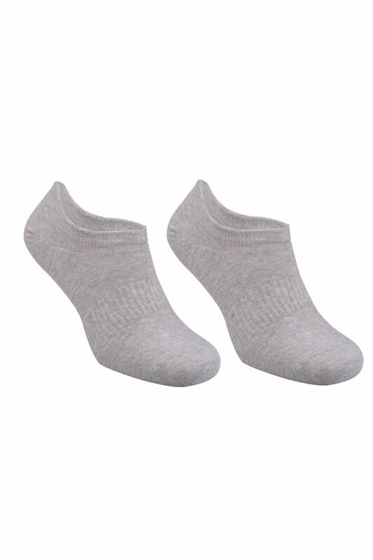 SAHAB - Dikişsiz Erkek Snikers Çorap 8010   Gri
