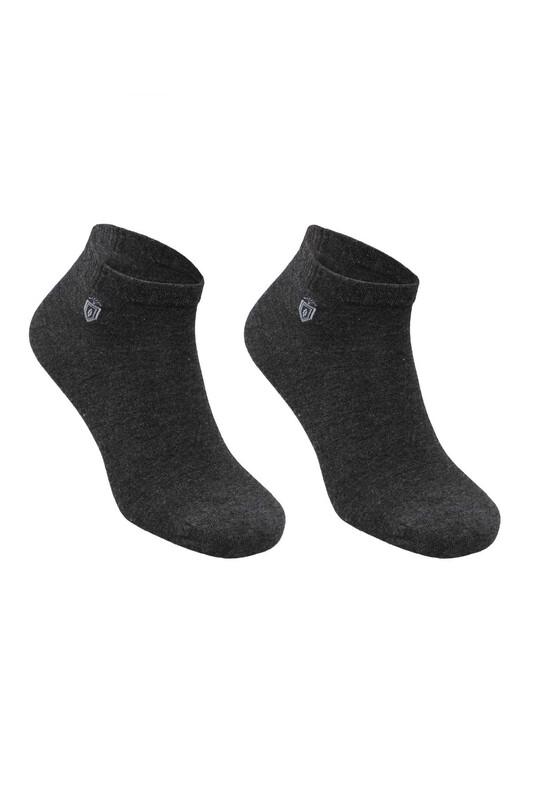 SİMİSSO - Pola Bambu Dikişsiz Erkek Soket Çorap   Antrasit