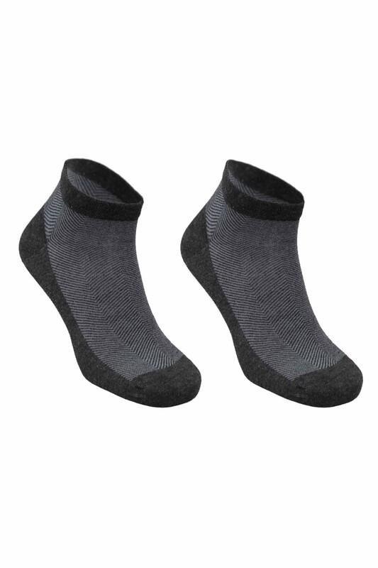 SİMİSSO - Bambu Dikişsiz Erkek Soket Çorap 1639   Antrasit