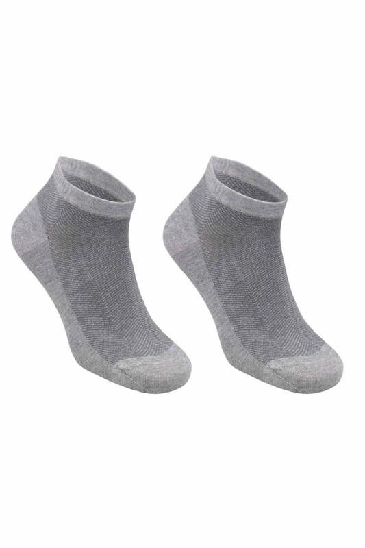 SİMİSSO - Bambu Dikişsiz Erkek Soket Çorap 1639   Füme