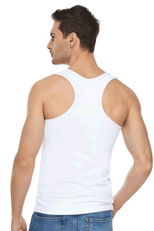 TUTKU ELİT - Tutku Elit Elastan Spor Erkek Atlet 1304 | Beyaz