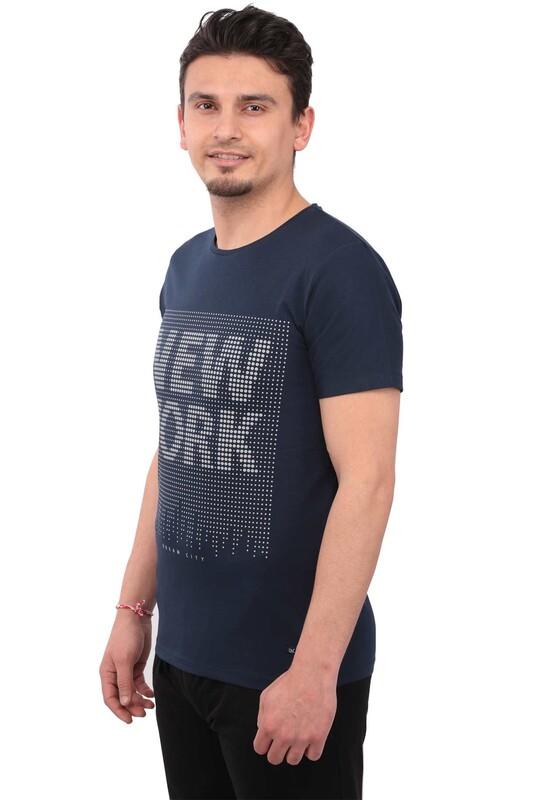 Real Rock - Real Rock NewYork Baskılı Erkek Tshirt | Lacivert