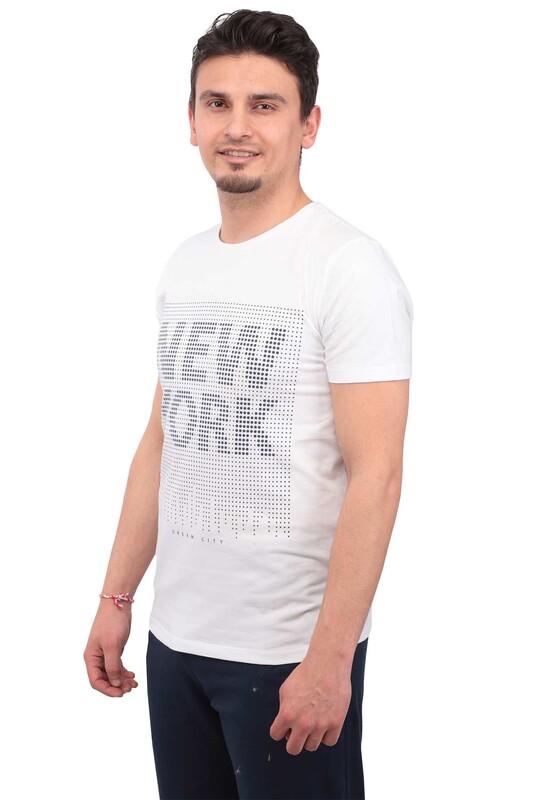 Real Rock - Real Rock NewYork Baskılı Erkek Tshirt | Beyaz