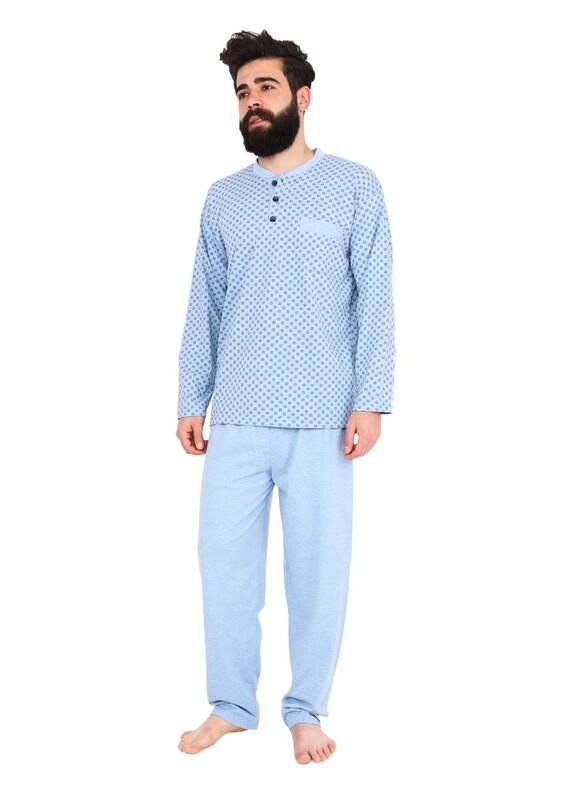 FAPİ - Fapi Erkek Pijama Takımı 5202   Mavi