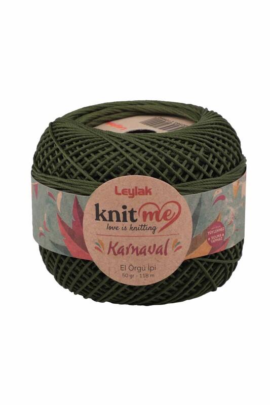 LEYLAK - Knit me Karnaval El Örgü İpi Asker Yeşili 00062 50 gr.