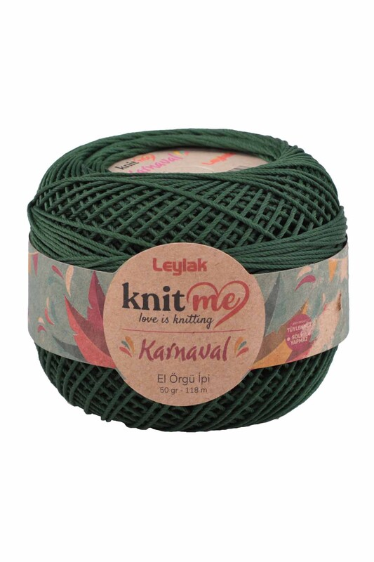 LEYLAK - Knit me Karnaval El Örgü İpi Koyu Yeşil 00063 50 gr.