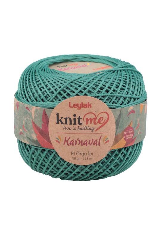 LEYLAK - Knit me Karnaval El Örgü İpi Pastel Yeşil 04002 50 gr.
