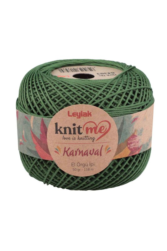LEYLAK - Knit me Karnaval El Örgü İpi Yeşil 04303 50 gr.