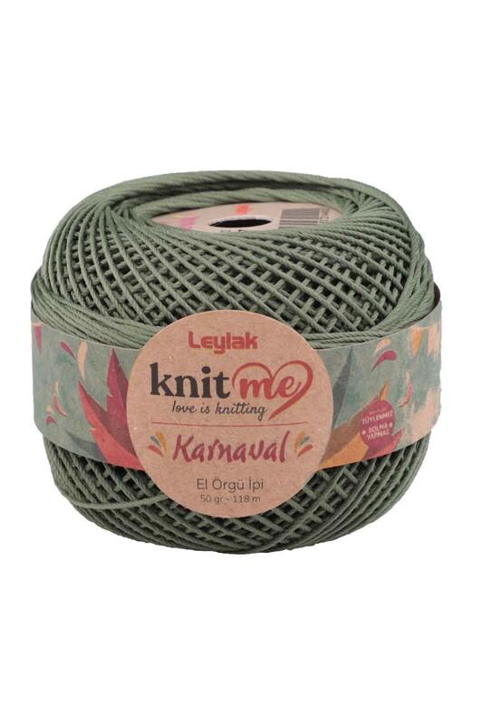 LEYLAK - Knit me Karnaval El Örgü İpi Küf Yeşil 01857 50 gr.