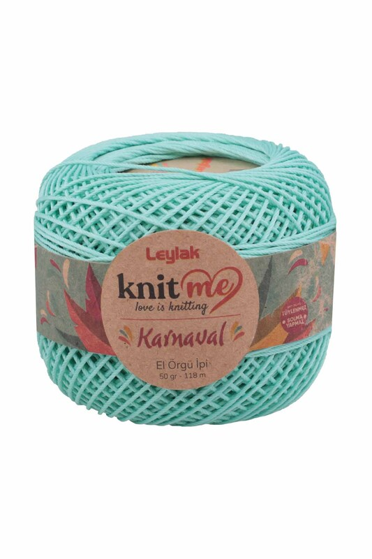 LEYLAK - Knit me Karnaval El Örgü İpi Bebe Yeşil 00610 50 gr.
