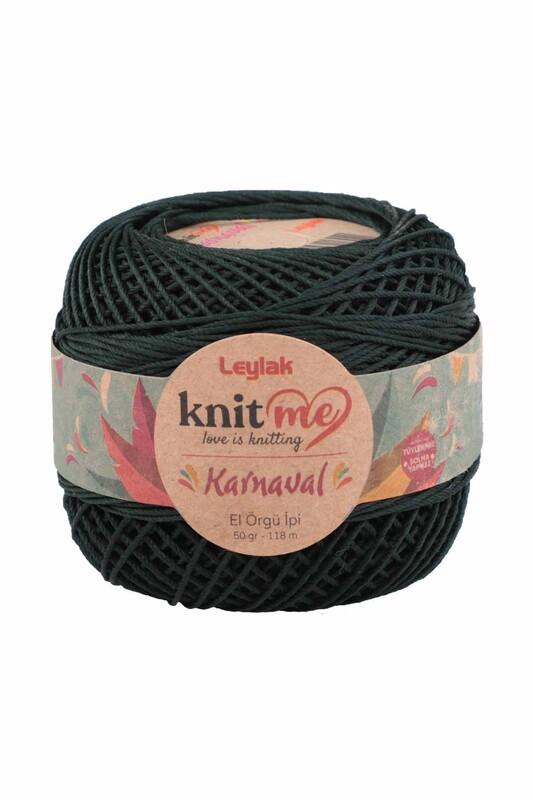 LEYLAK - Knit me Karnaval El Örgü İpi Koyu Yeşil 06506 50 gr.
