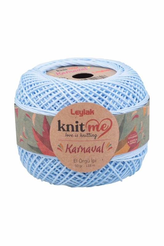 LEYLAK - Knit me Karnaval El Örgü İpi Bebe Mavi 08147 50 gr.