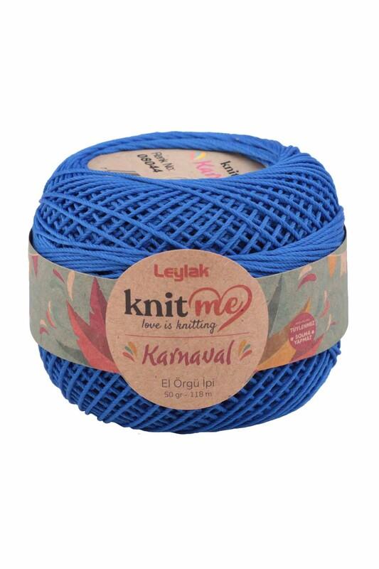 LEYLAK - Knit me Karnaval El Örgü İpi Saks Mavi 08044 50 gr.