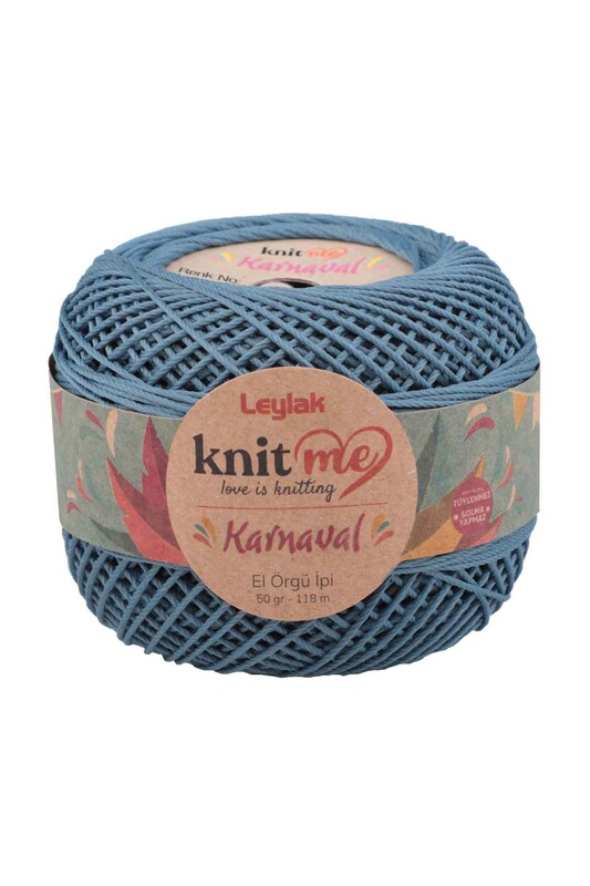 LEYLAK - Knit me Karnaval El Örgü İpi Pastel Mavi 00094 50 gr.