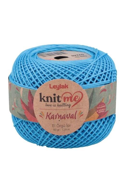 LEYLAK - Knit me Karnaval El Örgü İpi Mavi 02248 50 gr.
