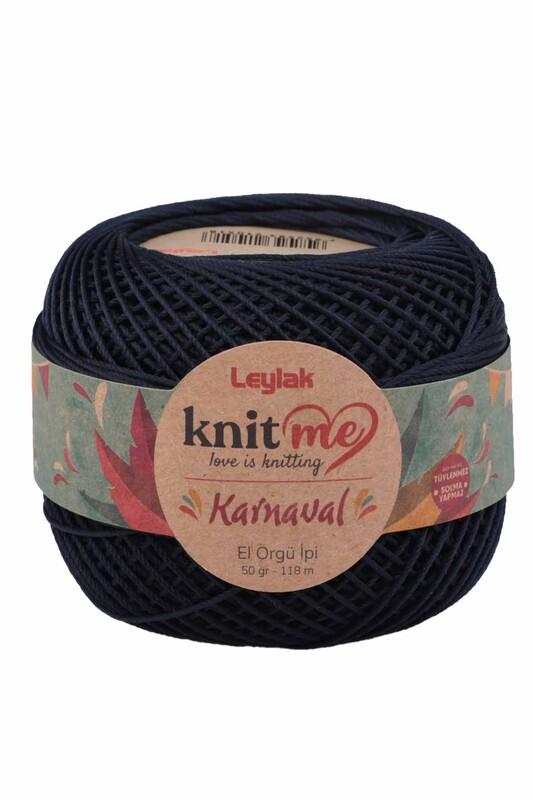 LEYLAK - Knit me Karnaval El Örgü İpi Lacivert 00046 50 gr.