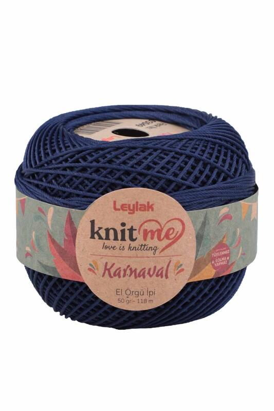 LEYLAK - Knit me Karnaval El Örgü İpi Açık Lacivert 03049 50 gr.