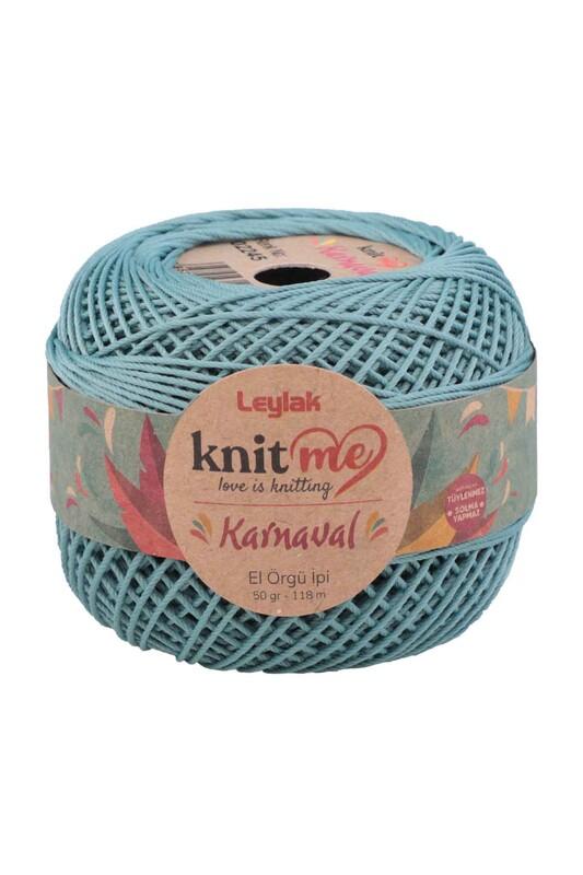LEYLAK - Knit me Karnaval El Örgü İpi Pastel Mavi 02245 50 gr.