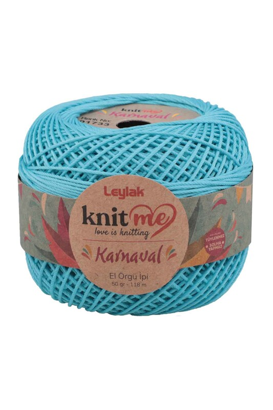 LEYLAK - Knit me Karnaval El Örgü İpi Turkuaz 01733 50 gr.