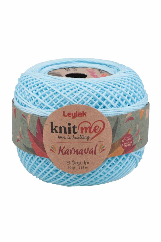 LEYLAK - Knit me Karnaval El Örgü İpi Bebe Mavi 02241 50 gr.