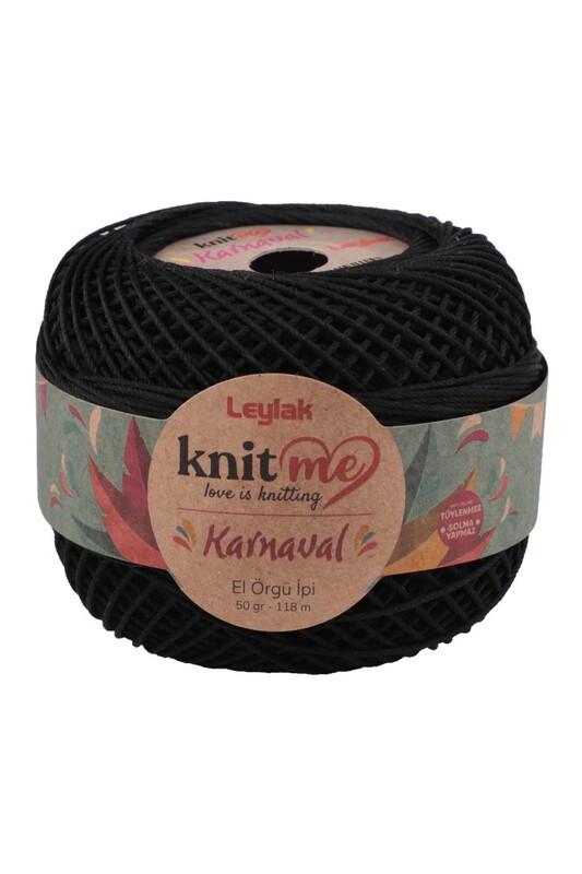 LEYLAK - Knit me Karnaval El Örgü İpi Siyah 50 gr.