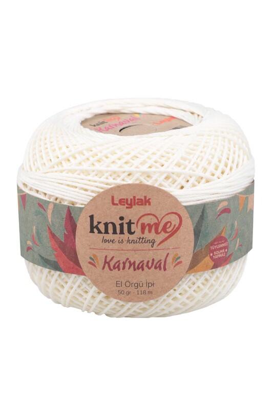 LEYLAK - Knit me Karnaval El Örgü İpi Ekru 04644 50 gr.