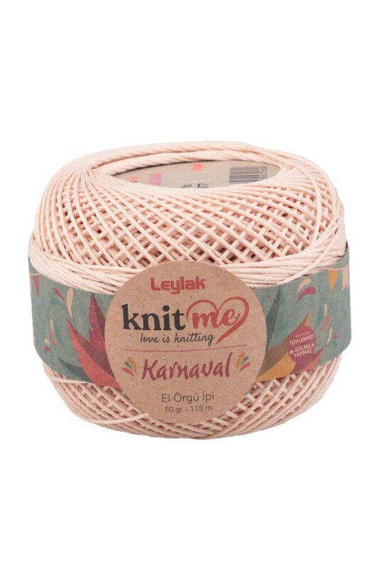 LEYLAK - Knit me Karnaval El Örgü İpi Bej 03077 50 gr.