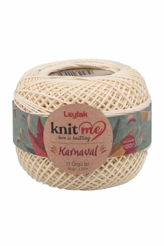 LEYLAK - Knit me Karnaval El Örgü İpi Ekru 00002 50 gr.
