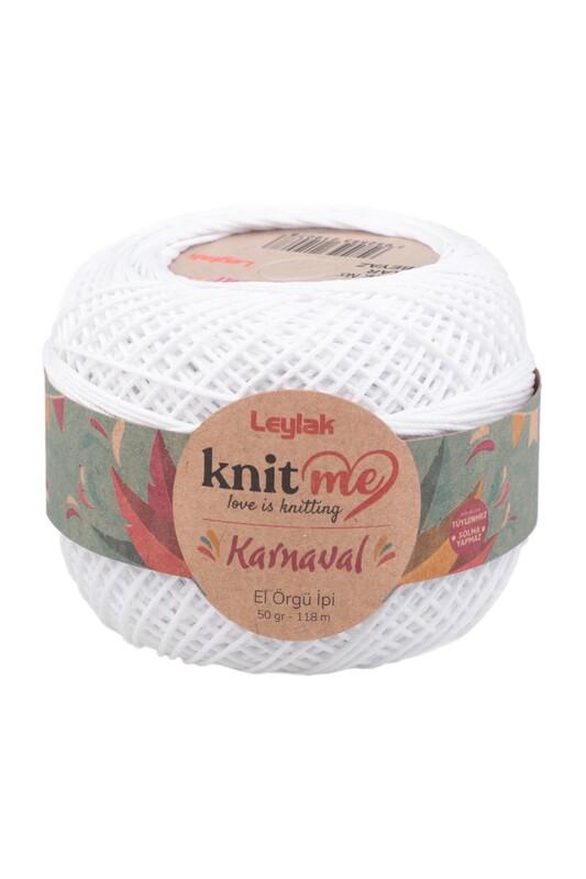 LEYLAK - Knit me Karnaval El Örgü İpi Kar Beyaz 50 gr.