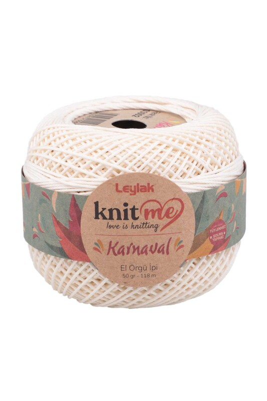 LEYLAK - Knit me Karnaval El Örgü İpi Krem 03002 50 gr.