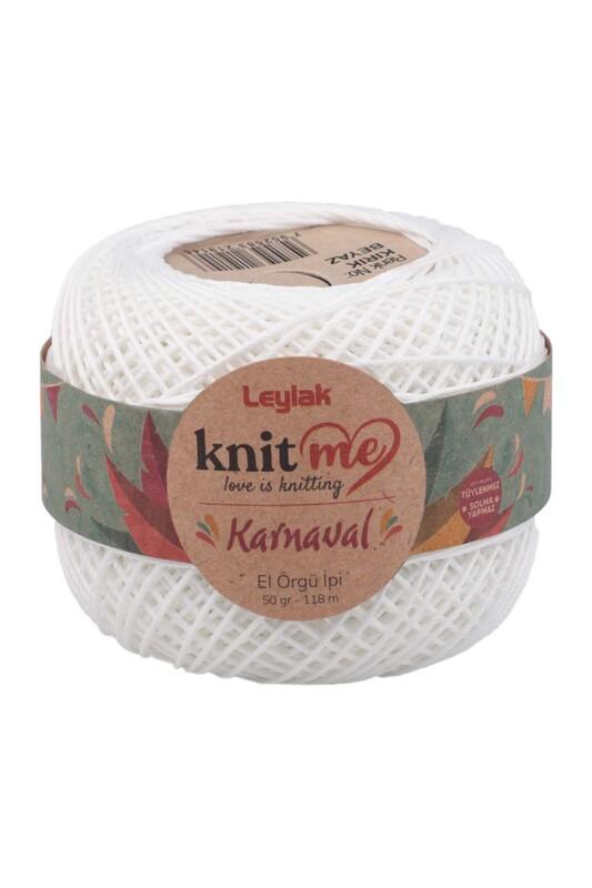 LEYLAK - Knit me Karnaval El Örgü İpi Kırık Beyaz 50 gr.