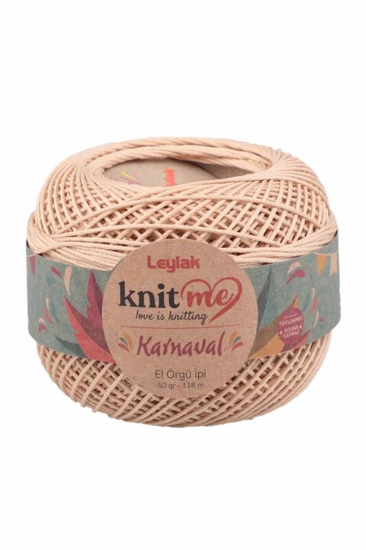LEYLAK - Knit me Karnaval El Örgü İpi Bej 01778 50 gr.