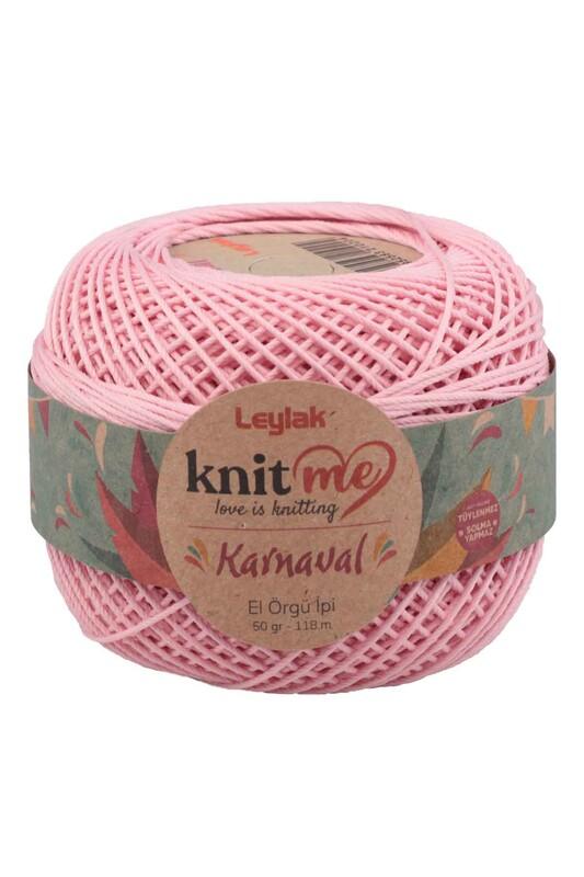 LEYLAK - Knit me Karnaval El Örgü İpi Açık Pembe 00026 50 gr.