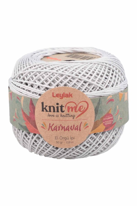 LEYLAK - Knit me Karnaval El Örgü İpi Açık Gri 02251 50 gr.
