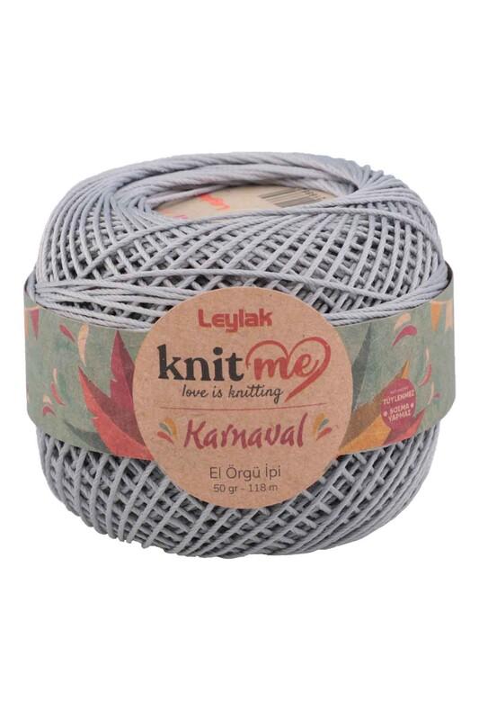 LEYLAK - Knit me Karnaval El Örgü İpi Açık Gri 03850 50 gr.