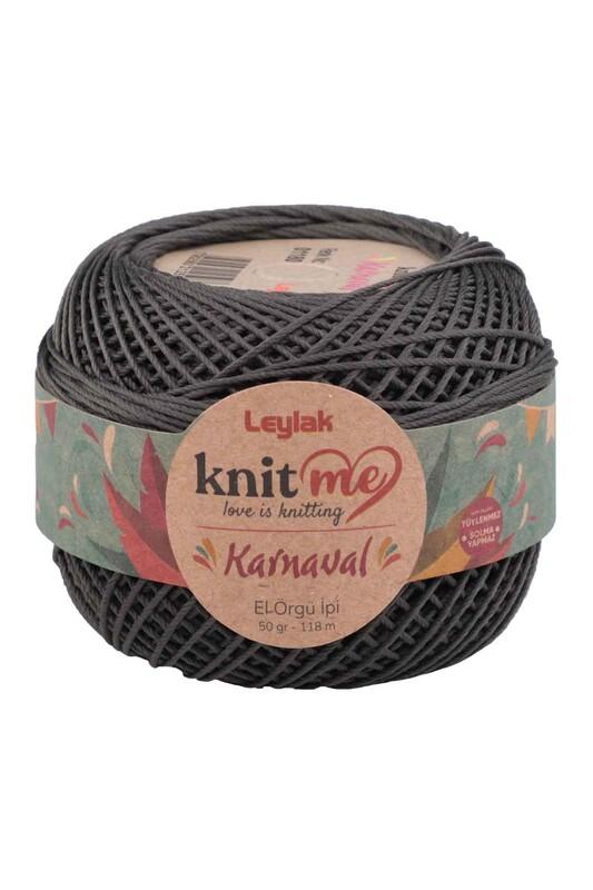 LEYLAK - Knit me Karnaval El Örgü İpi Antrasit 01180 50 gr.
